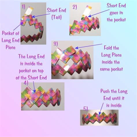 Origami Bracelets - origami bracelet how to fasten the bracelet without a