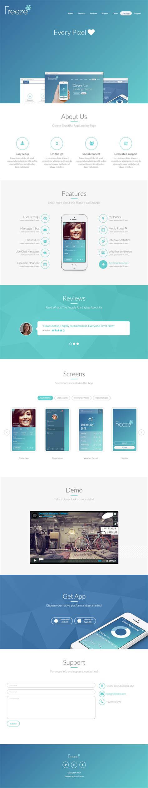 bootstrap themes oleose oleose mobile bootstrap app landing page bypeople