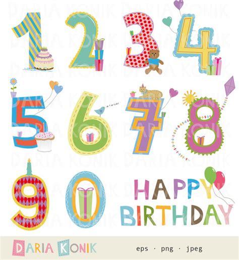 clipart compleanno bambini compleanno numeri clip set buon compleanno palloncini