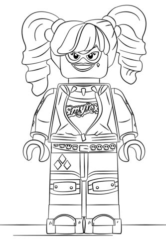 lego harley quinn coloring page | free printable coloring