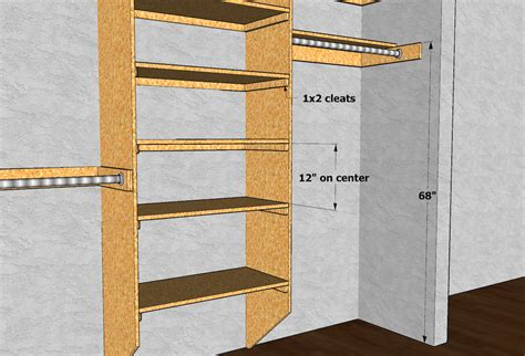 Closet Shelf Plans closet shelving layout design thisiscarpentry