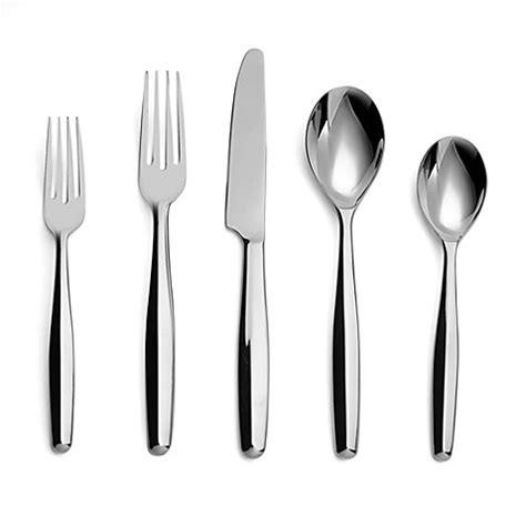 fuoco five piece placesetting modern flatware and nambe aidan flatware 5 piece place setting bed bath beyond