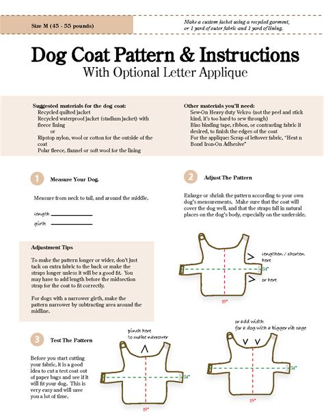 pattern for a large dog coat free sewing patterns for dog clothes new zealand of gold