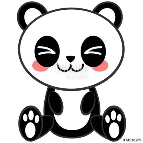 Quot Kawaii Panda Quot Fichier Vectoriel Libre De Droits Sur La Coloriage Licorne Kawaii Dessin A Imprimer L