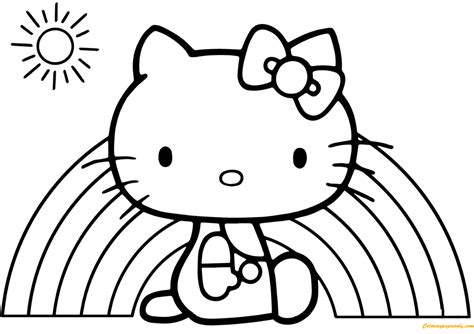 free hello coloring pages hello rainbow coloring page free coloring pages