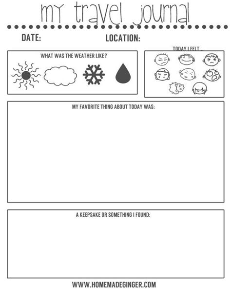 free printable holiday journal 17 best images about kids vacation on pinterest vacation