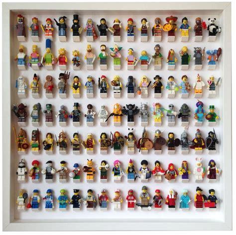 Frame Lego Minifigure Series 15 Display 105 lego minifigures white frame display lego
