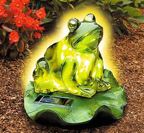 frog solar lights frog garden solar light
