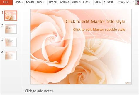 Free Rose Powerpoint Templates Farewell Presentation Template