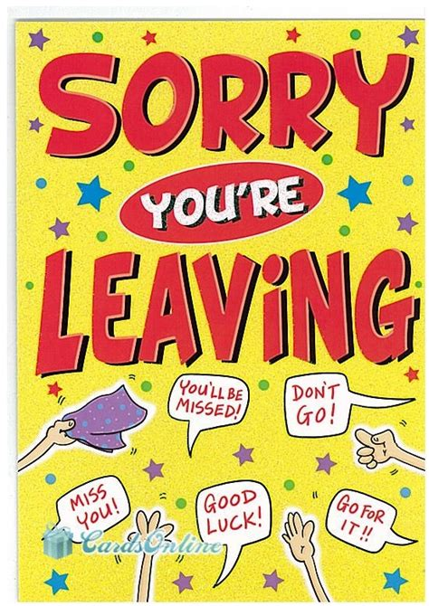 sorry you re leaving card template 43 best images about sorry you re leaving on