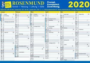 kalender rosenmund haustechnik ag  basel liestal