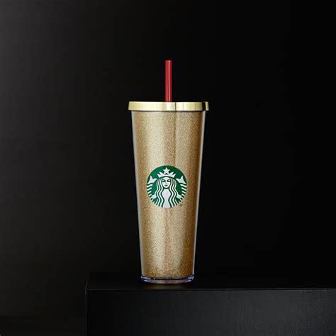Starbucks Gliter Cold Cup glitter cold cup gold 24 fl oz starbucks 174 store
