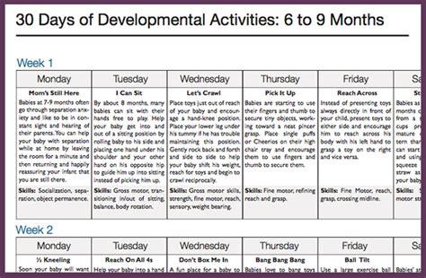 Calendar Play 30 Day Activity Calendars Play Developmental Activities