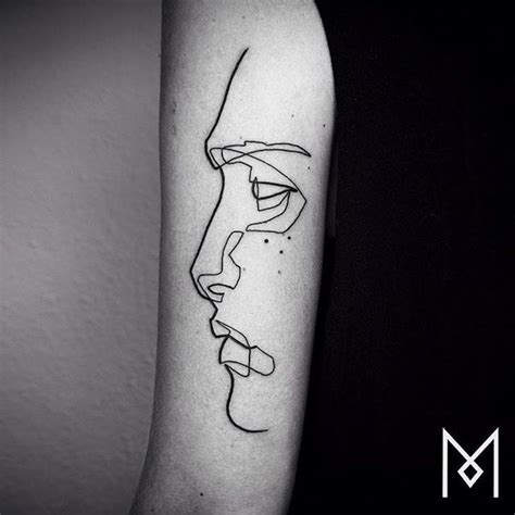 linear tattoos by mo ganji fubiz media