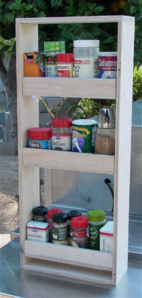 Side Cabinet Spice Rack Entertainment Cabinets Cd Storage Slide Out Dvd Storage
