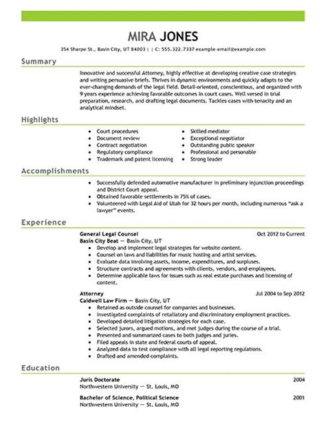 Law Resume Samples by 18 Best Images About Resume Designs On Pinterest Entry