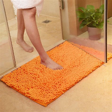 Bathroom Carpets Rugs Anti Slip Bath Mat Bathroom Toilet Carpet Doormat Shaggy Floor Rug Absorbent Kitchen Carpets