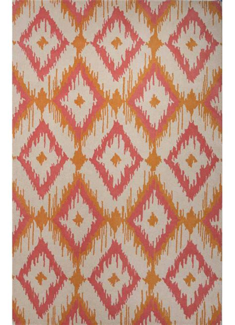 orange ikat rug argyle ikat rug in orange by jaipur rugs rosenberryrooms