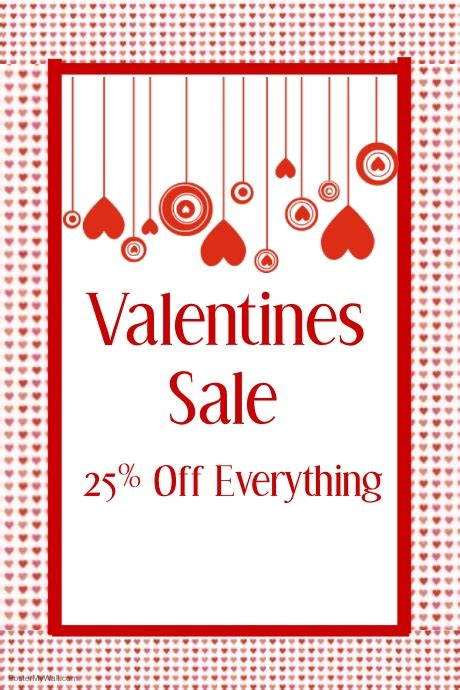 valentines sale event template postermywall