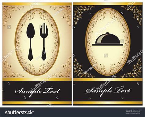 invitation card design for restaurant restaurant menu invitation card stock vector 48426046
