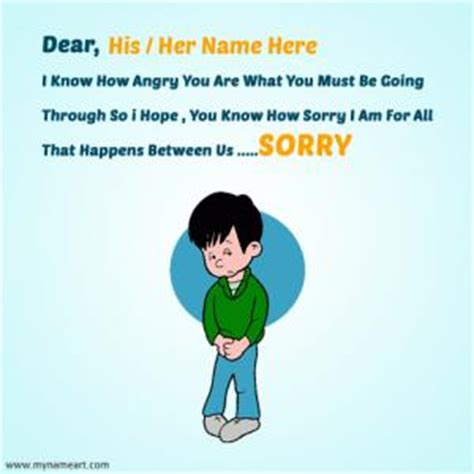 how to make a sorry card write name happy anniversary cake wishes greeting card