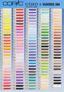 copic colors free copic color chart coloring pages