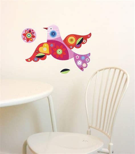 fabric wall stickers bird fabric wall stickers by chocovenyl