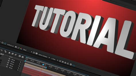 basic text animation after effects tamil tutorial youtube after effects tutorial element 3d text basic camera