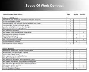 scope of work contract template scope of work templates free word pdf document