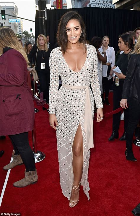 s day premieres shay mitchell flaunts cleavage and at the