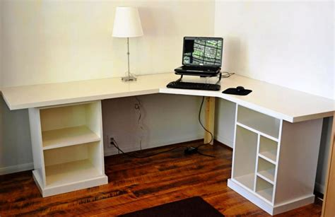 white corner computer desk creating a modern look home design