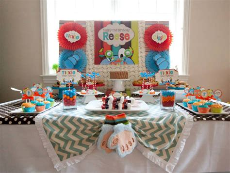 2nd Birthday Decorations At Home Kara S Ideas Tickle Second Birthday Planning Ideas Supplies Idea Cake