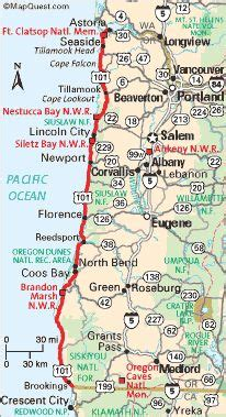 highway 101 map oregon coast travel the ways to get