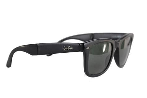 Kacamata Sunglass Folding Matte Black ban bausch and lomb vintage folding wayfarer matte