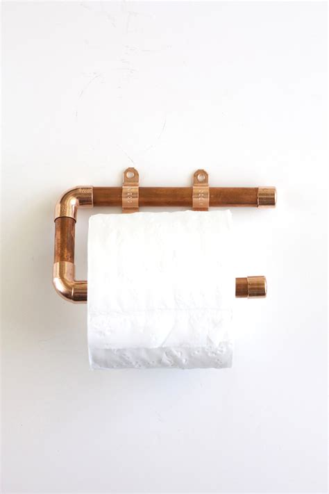 Make Toilet Paper Holder - copper pipe toilet paper holder kristi murphy diy ideas