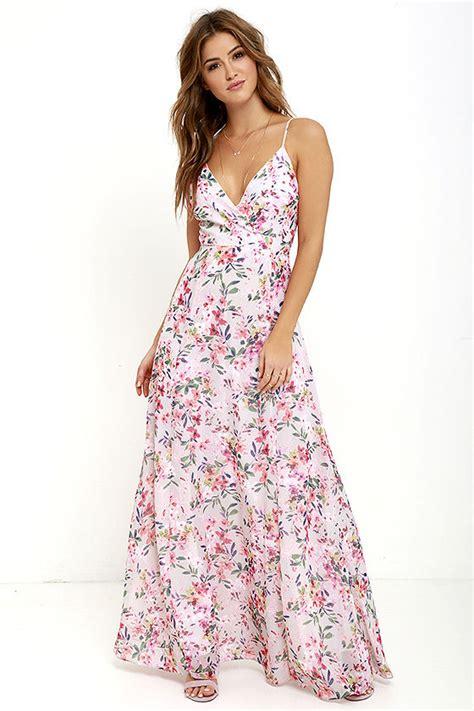 Maxi Flowery Dress pink floral print dress maxi dress sleeveless dress