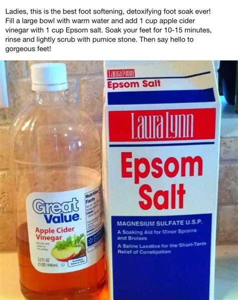 Foot Bath Detox Listerine by Foot Soak Vinegar Te Listerine Akne