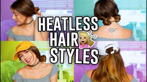 5 easy hairstyles for school youtube 5 easy heatless hairstyles for school 2017 jill