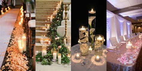 candele per matrimonio addobbi matrimonio idee romantiche e originali roba da