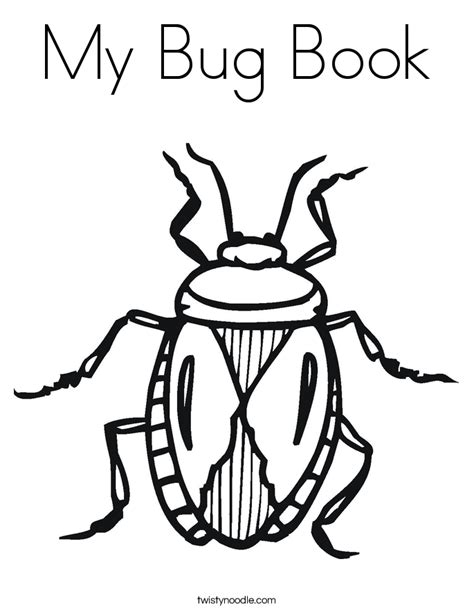 bed bugs in books my bug book coloring page twisty noodle