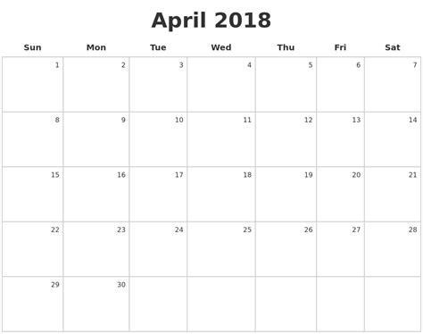 Calendar December 2017 To April 2018 December 2017 Monthly Calendar Template