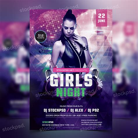 free party flyer templates free party flyer templates psd free party