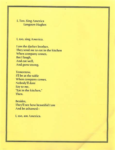 I Sing America Analysis Essay by Essay On Langston Hughes I Essaywinrvic X Fc2
