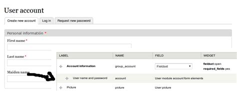 drupal theme user registration form user name and password fields does not show in register