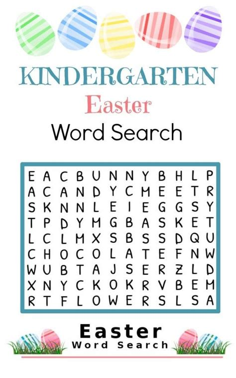 printable literacy word games kindergarten easter word search printable word search