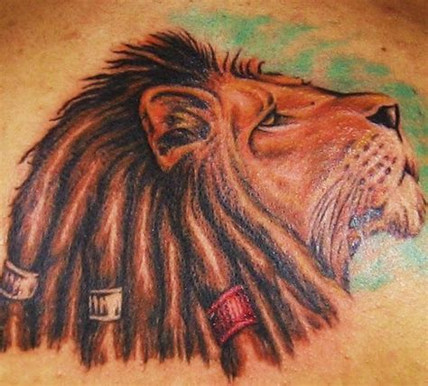 lion with dreads tattoo of zion with dreads coloured tattooimages biz