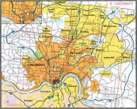 Cincinnati Ohio Map by Cincinnati Ohio City Map Cincinnati Ohio Mappery