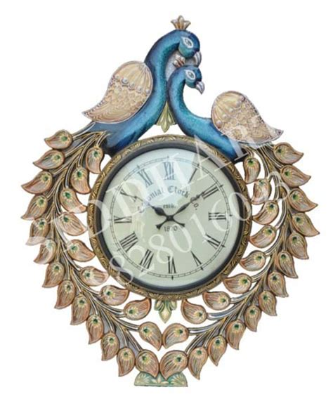 wooden clock style and design knowledgebase peacock design wooden wall clock manufacturer in jaipur