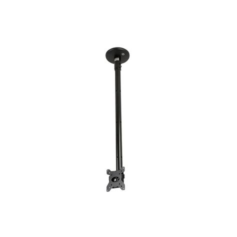 Tv Pole Mount Floor To Ceiling by B Tech Flat Screen Tv Ceiling Mount 0 75m Pole Black