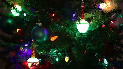 christmas lights bubble bulbs closeup of a christmas tree focusing on the bubble lights